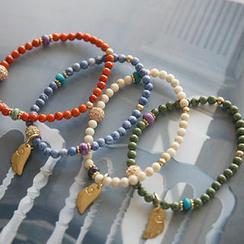 NANING9 Elasticized Beaded Pendant Bracelet