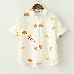 ninna nanna - Sushi Print Short-Sleeve Shirt