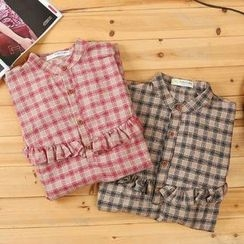 Angel Love - Plaid Blouse