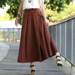 Zen Girl - 麻布皱纹长裙