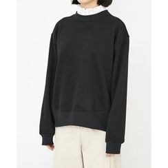 Someday, if - Frill Layered-Neck Cotton Top