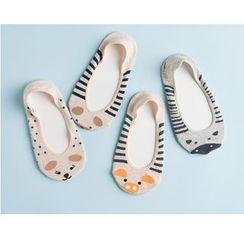 LA SHOP - Animal Print No Show Socks