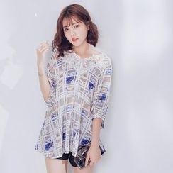 Tokyo Fashion - Lace Print Blouse