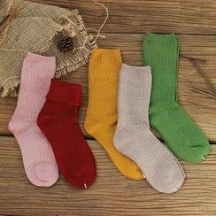 Socka - 复古纹路羊毛中筒袜