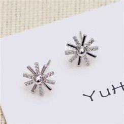 Best Jewellery - Rhinestone Snowflake Earrings