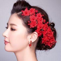 Suaylla - Crochet Flower Bridal Hair Clip