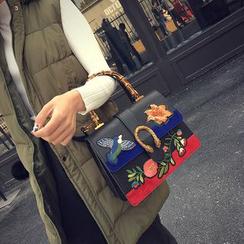 BAGSHOW - 花形刺绣手提包