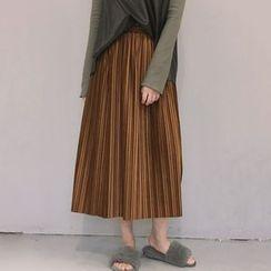 Windflower - Pleated A-Line Skirt