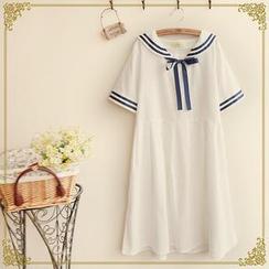 Fairyland - Short-Sleeve Sailor-Collar T-Shirt Dress