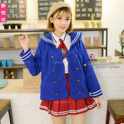 Cosgirl - Sailor Collar Double-Breasted Jacket