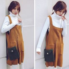 Sienne - Strap Knit Pinafore