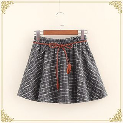 Fairyland - Plaid A-Line Mini Skirt