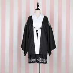 GOGO Girl - Embroidered Kimono Jacket