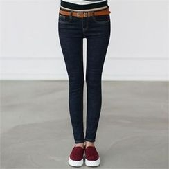 CHICFOX - Stitched Skinny Jeans