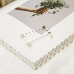 NANING9 - Faux-Pearl Earrings
