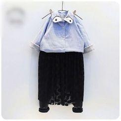 Rakkaus - 儿童刷毛衬里条纹衬衫