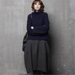 HALUMAYBE - Zip-Back Maxi Skirt