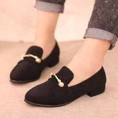 IYATO - Fleece-Lined Toggle Loafers