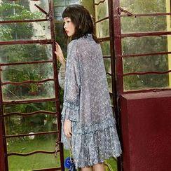 Sam's Tree - Floral Pleated Chiffon Dress