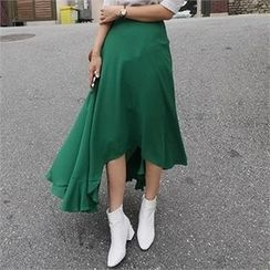 LIPHOP - Dip-Back Midi Skirt