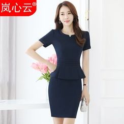 Skyheart - Short-Sleeve Peplum Dress