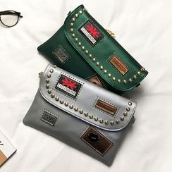Nautilus Bags - Faux Leather Studded Clutch