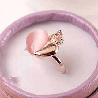 TAIPEI STAR - Jeweled Heart Ring