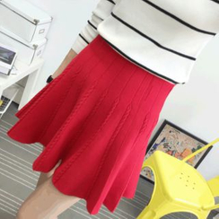Knitemps - Cable-Knit A-Line Skirt