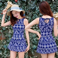 Blue Lagoon - Print Swimdress