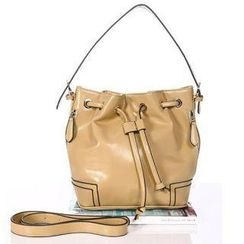 O.SA - Contrast-Trim Drawstring Bucket Bag