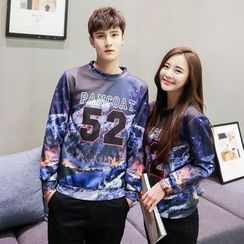 Evolu Fashion - Couple Matching Number Neoprene Pullover