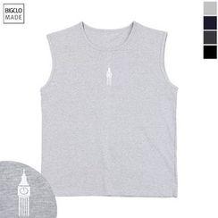 Seoul Homme - Sleeveless Printing T-Shirt