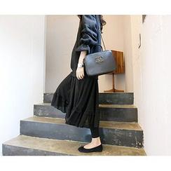 MARSHMALLOW - Lace-Hem Maxi Dress