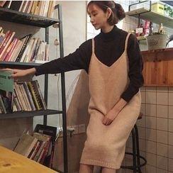 MATO - Midi Knit Pinafore Dress
