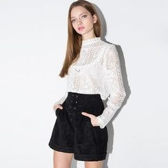 Obel - Lace Long-Sleeve Top
