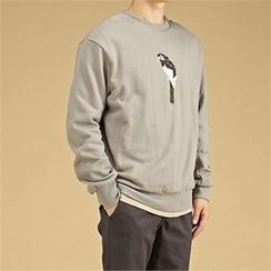 THE COVER - Animal Embroidered Sweatshirt