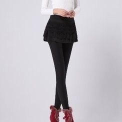 Amella - Inset Skirt Leggings