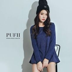 PUFII - Long Sleeve Knit Top