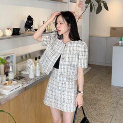 Miamasvin - Frill-Trim Cotton T-Shirt
