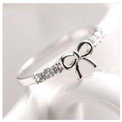 Kristina - Rhinestone Bow-Accent Ring