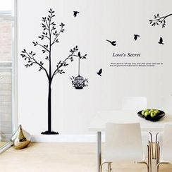 LESIGN - Tree and Birdcage Wall Sticker