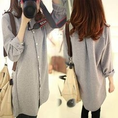Heybabe - Plain Long Shirt