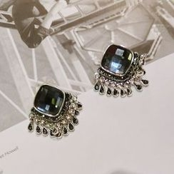 Ticoo - Statement Rhinestone Earrings