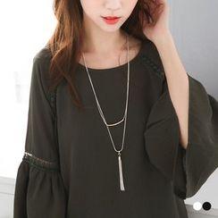 OrangeBear - Tassel Layered Necklace