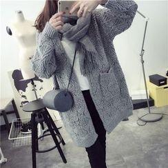 Pecora - Open Knit Long Cardigan