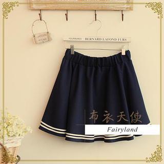Fairyland - Striped Trim Elasticized Skirt