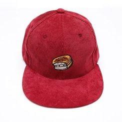 Heynew - Embroidered Corduroy Baseball Cap
