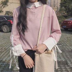Miss Kekeli - 拼接长袖衬衫