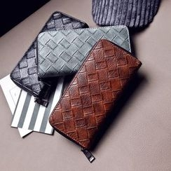 Rosanna Bags - Woven Faux Leather Long Wallet