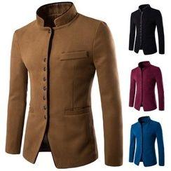 Fireon - Mandarin Collar Button Jacket